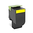Lexmark 80C2SY Toner gelb, original