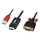 Lindy Videokabel - HDMI / VGA / USB - 3 m