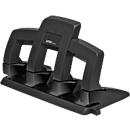 Locher Rapid Supreme Press Less SP34, 4-fach Lochung 80 mm, für 30 Blatt, schwarz/anthrazit
