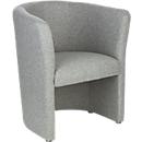 Lounge fauteuil gestoffeerd Nowy Styl CLUB, volledige stoffering, met bodemglijders, lichtgrijs
