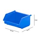 Magazijnbak SSI Schäfer LF 110, polypropeen, L 92 x B 100 x H 50 mm, 0,26 l, blauw