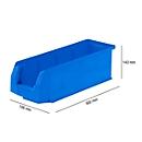 Magazijnbak SSI Schäfer LF 511, polypropeen, L 500 x B 156 x H 143 mm, 7,6 l,blauw