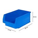Magazijnbak SSI Schäfer LF 532, polypropeen, L 500 x B 312 x H 200 mm, 23,5 l, blauw