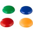 Magnete, Haftkraft 0,9 kg, Durchmesser 40 mm, Kunststoffgehäuse, 4 Stück