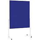 Magnetoplan Moderationstafel, fahrbar, 3 Oberflächen zur Auswahl, standfest, blau
