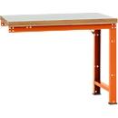 Manuflex Anbauwerkbank Profi Standard, Tischplatte Kunststoff, 1250 x 700 mm, rotorange