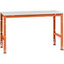 Manuflex Grundtisch UNIVERSAL Standard, Tischplatte Melamin, 1500x800, rotorange