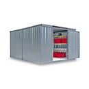 Materiaalcontainer model 1340, gegalvaniseerd, ongemonteerd, zonder bodem