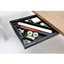 Materiaallade voor bureautafels, zwart