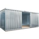 Materialcontainer MC 1500, verzinkt, montiert, mit Holzfußboden