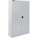 Materialschrank SSI Schäfer MSI 16408 , B 800 x T 400 x H 1535 mm, 3 Böden, Stahl, weißaluminium RAL 9006
