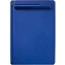 MAUL Klemmbrett, DIN A4, Kunststoff, mit Stifthalterung, blau