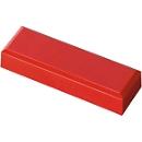 MAUL rechthoekmagneten, 53 x 18 x 10 mm, 20 stuks, rood