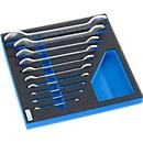 Maulschlüsselsatz in Hartschaumeinlage, 10-tlg., für Schrankserie WSK, Maße 306 x 306 mm