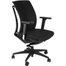 Mayer bureaustoel ARTICHAIR, synchroonmechanisme, met armleuningen, exacte ondersteuning wervelkolom, zwart
