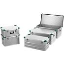 Mini-box, licht metaal, met stapelhoeken, 42 l