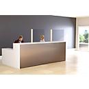 Mobiele scheidingswand , acrylglas, dikte 4 mm, B 980 x H 650 mm, incl. standpijp met voet, H 1765 mm