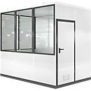 Mobiles Raumsystem WSM, L 3045 x B 2045 mm, für Innen, ohne Fußboden, grauweiß RAL 9002/anthr.grau RAL 7016