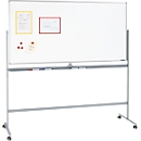 Mobiles Whiteboard 9012, mit drehbarer Tafel, mit 4 Lenkrollen, 900 x 1200 mm