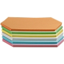 Moderationskarten, rhombenförmig, 95 x 205 mm, 250 Stück, farbsortiert