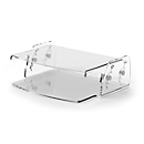 Monitorständer Fellowes Clarity™, bis 10 kg, höhenverstellbar, B 320 x 256 mm, Acryl