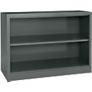MS iCOLOUR boekenkast, 2 OH, kwaliteitsplaatstaal, B 950 x D 400 x H 865 mm, grafiet RAL7024