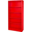 MS iCOLOUR boekenkast,  plaatstaal, 5 OH, B 950 x D 400 x 1935 mm, rood RAL3020