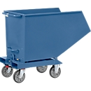 Muldenkipper 4703, 600 l, blau RAL 5007, ohne Ablasshahn und Sieb