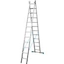 Multifunctionele ladder van aluminium, 2x9 sporten