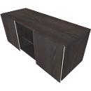 Multiladeblok SOLUS PLAY, 2 schuifdeuren, 2 open vakken, zonder handgreep, B 1350 x D 523 x H 583 mm, moeraseik