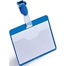 Naambadges, voor bedrijfspas, blauw, 25 stuks