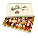Niederegger Nostalgiedose Marzipanerie, gefüllt mit Marzipan-Klassikern, Inhalt 270 g