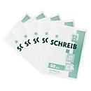 Notitieblok, gerecycleerd papier, A4, 50 vellen, 5 stuks
