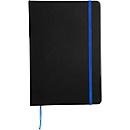 Notizbuch Lector, DIN A5, blanko, 70g/m², 80 Seiten, Tampondruck 50 x 20 mm, schwarz/blau