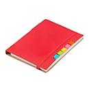 Notizbuch Penz, inkl. Schreibblock 70 Blatt liniert, Haftnotizen & Kugelschreiber, rot
