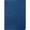 Notizbuch Service, DIN A4, 128 karierte Blätter, Kunstleder, blau