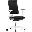 NowyStyl Bürostuhl 4ME, Synchronmechanik, ohne Armlehnen, höhenverstellbare Rückenlehne, weiß/schwarz