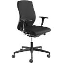 NowyStyl bureaustoel NOW 1, synchroonmechanisme, zonder armleuningen, ergonomische rugleuning, kuipzitting, zwart/zwart