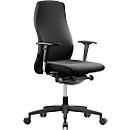 NowyStyl bureaustoel NOW 2, synchroonmechanisme, zonder armleuningen, lordosesteun, kuipzitting, zwart/zwart