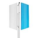 Onderstel voor whiteboardsysteem Skin, voor whiteboards met afmeting 1000 x 1500 mm, met wielen