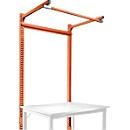 Opbouwframe met giek, Basistafel STANDAARD werktafel/werkbank UNIVERSAL/PROFI, 1250 mm, roodoranje
