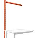 Opbouwframe voor aanbouwtafel STANDAARD werktafel-/werkbanksysteem UNIVERSAL/PROFI, 1250 mm, roodoranje