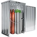 Opslagplaats voor gasflessen SAFE LIF GM 114, met bodemframe en gegalvaniseerd rooster