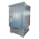 Opslagplaats voor gevaarlijke stoffen type GD-E/IBC, afsluitbaar, Opslagcapaciteit tot 1 x 1000 l IBC, gegalvaniseerd