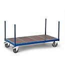 Paalwagen met houten vloer, 2000 x 800 mm, draagvermogen 1.200 kg