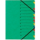 PAGNA documentenmap Easy, A4, elastieksluiting, 12-delig, groen