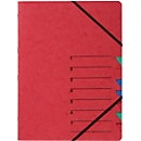 PAGNA documentenmap Easy, A4, elastieksluiting, 7-delig, rood