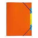 PAGNA documentenmap Funky School, elastieksluiting, 5-delig, PP, oranje