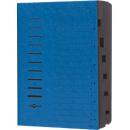 PAGNA sorteermap, voor A4, 7 waaiers, pressboard, 5 stuks, blauw