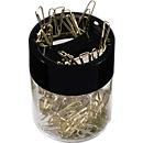 Papercliphouder, magnetisch, met 125 paperclips